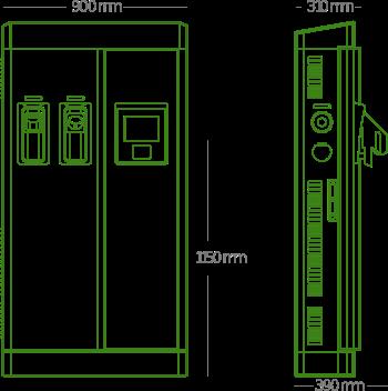 Estaciones para recarga rápida de vehículos eléctricos